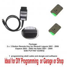 DIY Programming tool Renault Laguna (2001 - 2006) Renault Espace (2002 - 2006) Renault Vel-Satis (2001 - 2009)
