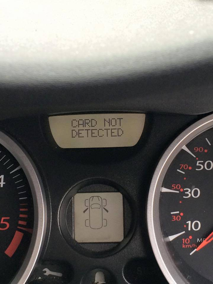 renault scenic card not detected fault
