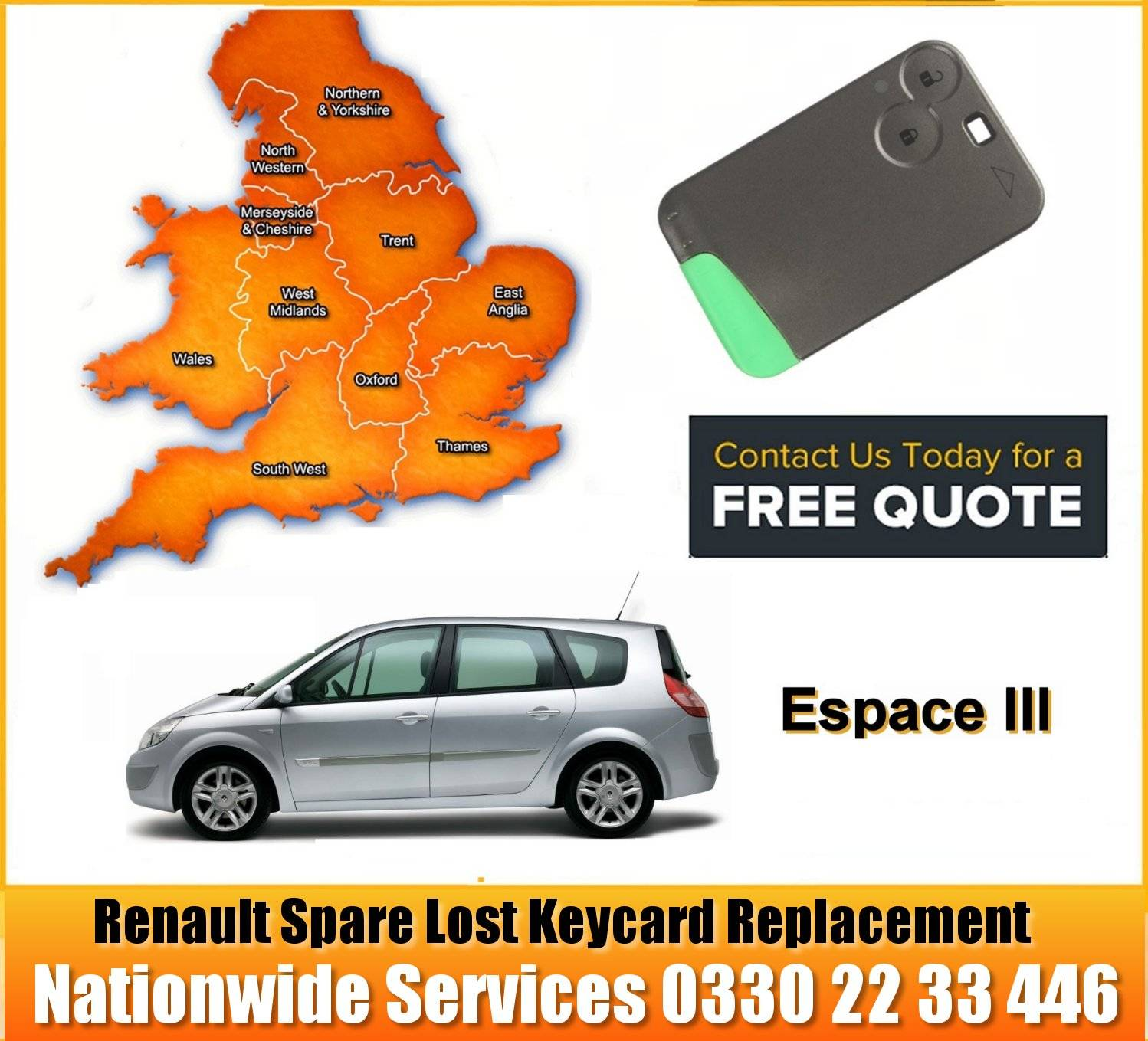 How to change the Battery in a Renault Remote Central Locking Key Card Using a Flat Head Screwdriver