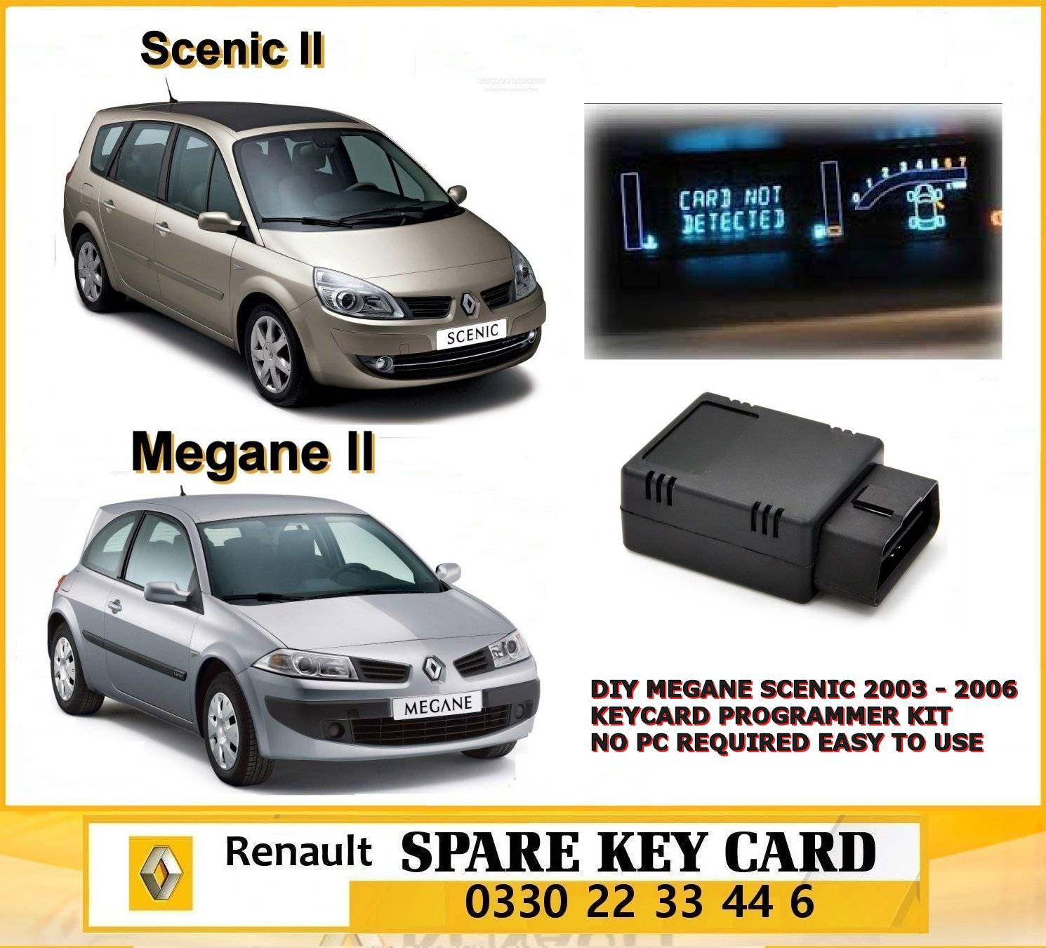 diy megane scenic 2003 2006 keyboard programmer non pc required full support key card renault. Black Bedroom Furniture Sets. Home Design Ideas