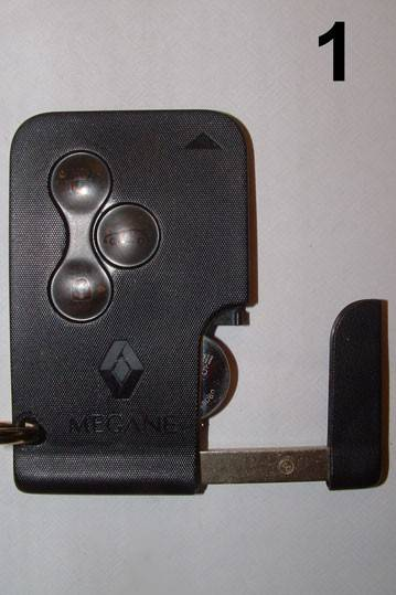 2008 replacement 3 button remote key card for renault megane. Black Bedroom Furniture Sets. Home Design Ideas