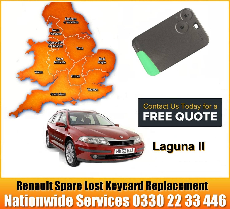 Renault Laguna 2000 - 2007 replacement key card programming repair services manchester