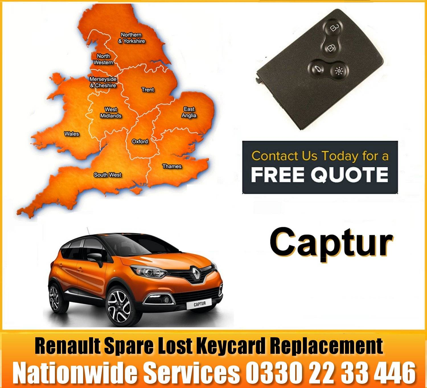 Renault Captur Key Card Replacement