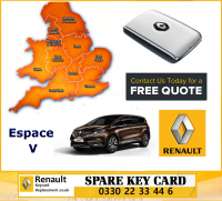 Renault Espace V Replacement Remote Key Card
