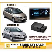 DIY MEGANE SCENIC 2003 - 2006 KEYCARD PROGRAMMER KIT