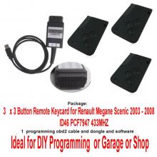 DIY Programming tool Renault Renault Megane (2003 - 2008) Renault Scenic (2003 - 2008) Renault Grand Scenic (2003 - 2008)