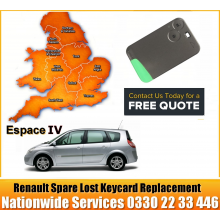 Renault Espace 2014 Replacement Remote Key Card, image