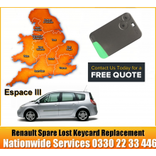 Renault Espace 2004 Replacement Remote Key Card, image