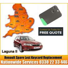2007 Renault Laguna Replacement 2 Button Remote Key Card, image