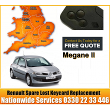 Renault Megane 2005 Replacement 3 Button Remote Key Card, image