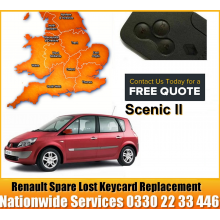 2008 Renault Grand Scenic Replacement 4 Button Remote Key Card, image