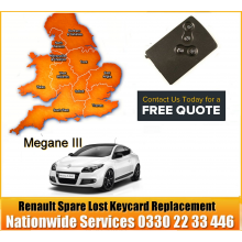 Renault Megane 2010 Replacement 4 Button Remote Key Card, image