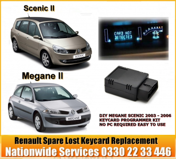 DIY Renault DIY MEGANE SCENIC 2003 - 2006 KEY CARD PROGRAMMER KIT NO PC REQUIRED FULL SUPPORT, + Blank Cards: + 1 Blank Card + Programmer, image