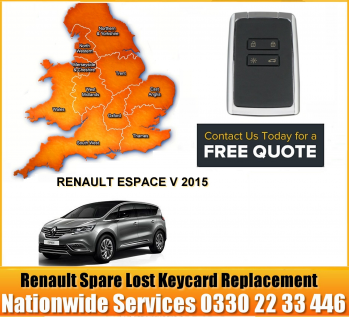 Renault Grand Espace V 2015 Replacement Remote Key Card, image