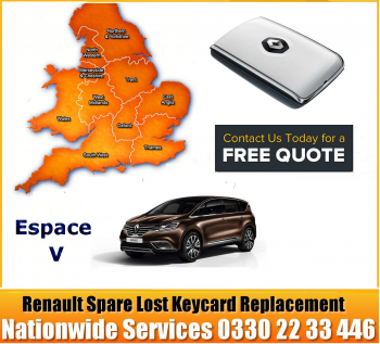 2018 Renault Espace V Replacement Remote Key Card, image