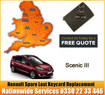 Renault Car Key / KeyCard Repair 3 Button Remote for Magane Scenic Clio Laguna Espace, image
