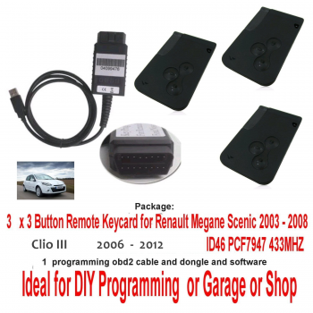 DIY Programming tool Renault Clio (2005 - 2012) Spare Lost Non Working Key Card Replacement & Programming Tool Hire or Buy, image
