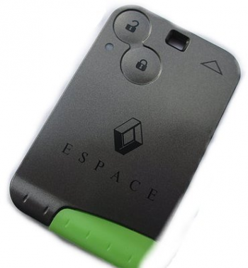 2009 Replacement 3 Button Remote Key Card for Renault Clio