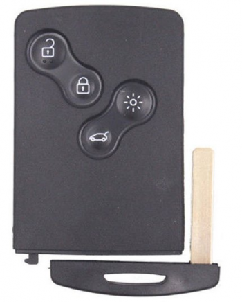 4 Button Remote Keycard for Renault Genuine Renault Laguna III /Megane III / Scenic III Key Card (285975779R)