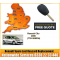 Renault Clio III Key Cut Blade and 3 Button Remote 2009, image